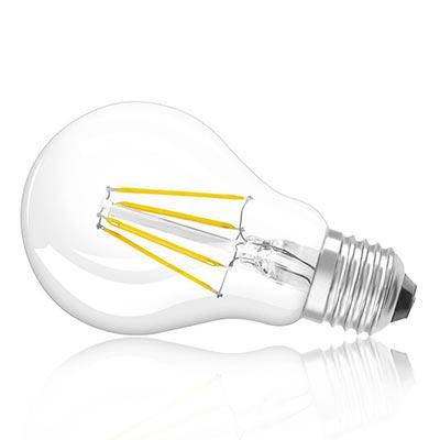 LED žiarovka E27 4W/360lm, klasik LED vlákno, teplá biela