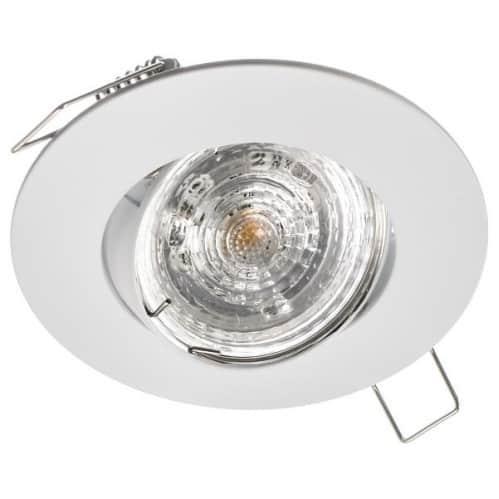 Stropné bodové podhľadové svietidlo GAMA-R nastaviteľné, biele matné