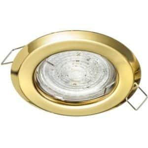 Stropné bodové podhľadové svietidlo ALFA pevné, zlaté