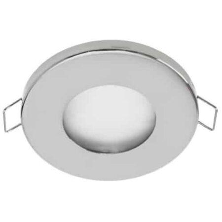Vodeodolné bodové podhľadové svietidlo HERMI, chróm