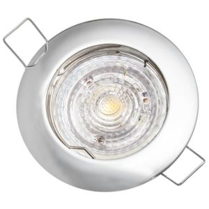 Stropné bodové podhľadové svietidlo GAMA-S, chróm