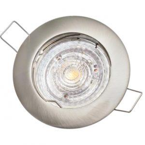 Stropné bodové podhľadové svietidlo GAMA-S, matný chróm