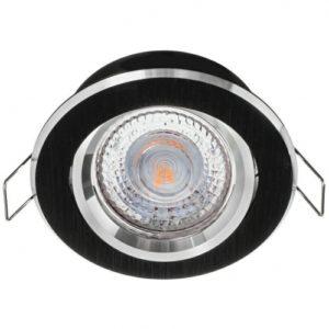 Stropné podhľadové svietidlo ATENA, brúsené striebro