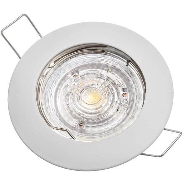 Stropné bodové podhľadové svietidlo GAMA-S, biele
