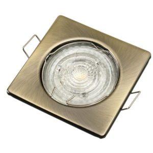 Stropné bodové podhľadové svietidlo TOPAZ, antická mosadz