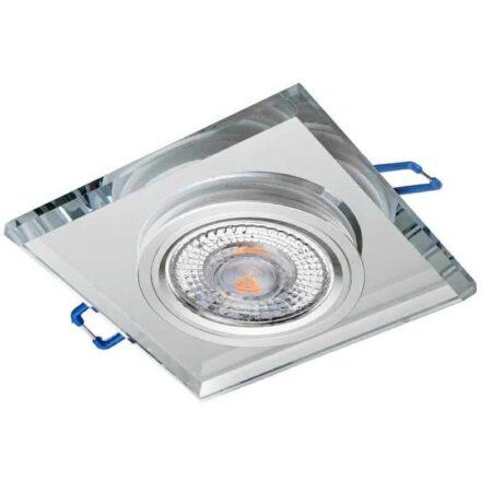 Sklenené bodové podhľadové svietidlo GLASSO-K-S, pevné, priesvitné