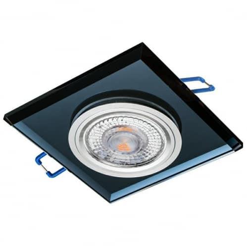 Sklenené bodové podhľadové svietidlo GLASSO-K-S, pevné, čierne