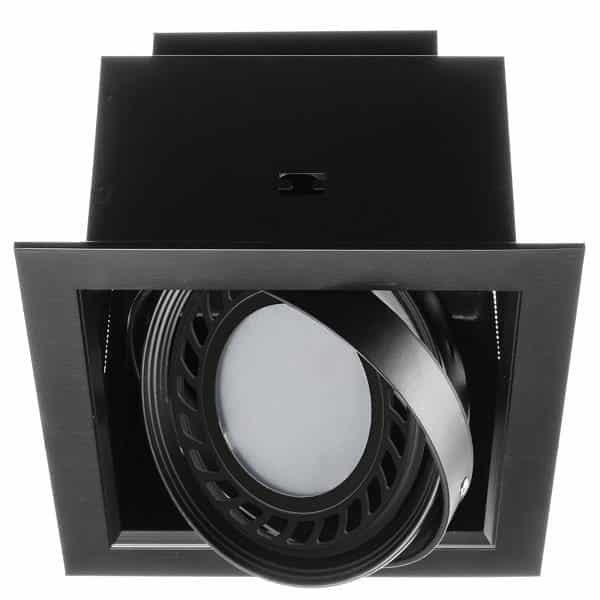 Stropné bodové svietidlo AQUA 1xAR111/ES111 nastaviteľné, brúsená čierna