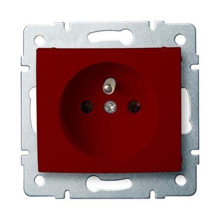 Elektrická zásuvka, červená, Revolo
