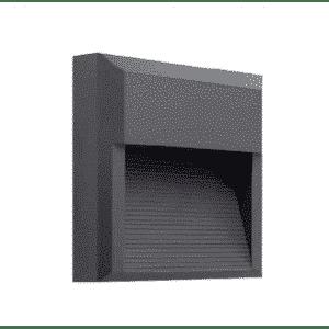 Nástenné vonkajšie svietidlo ASTON 8W/390lm, čierne, neutrálna biela