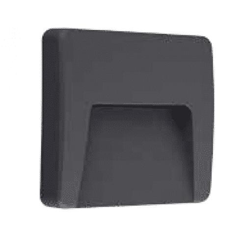 Nástenné vonkajšie svietidlo ASTON 3W/100lm, čierne, neutrálna biela