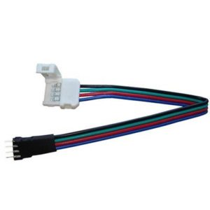 Konektor pre RGB LED pásik 10mm P+K 4pin samec