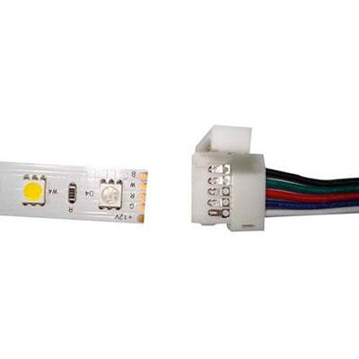 Konektor pre RGBW LED pásik 12mm P+K 5pin samec