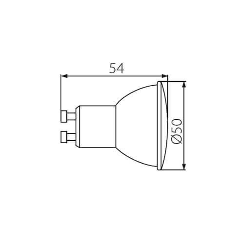 LED žiarovka KANLUX TEZI GU10/4.5W/390lm, 120°, neutrálna biela