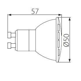 LED žiarovka KANLUX MIO GU10/6W/440lm, 120°, neutrálna biela