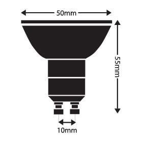 LED žiarovka GU10/1W/90lm, 120°