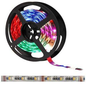 RGBNW LED pás, 12V, 7.2W/m, 30LED/m, 480Lm/m, IP20