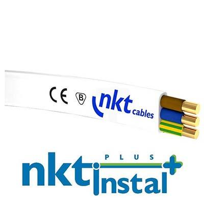 Plochý kábel 3-žilový, 3 x 1.50mm2 biely 1m