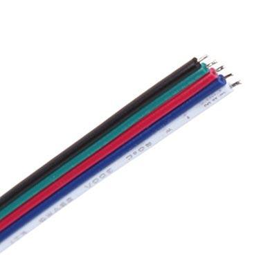 Kábel 5-žilový, 5 x 0.50mm2 pre napájanie LED pásov1m