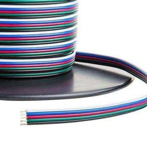 Kábel 5-žilový RGBW, 5 x 0.50mm2 pre napájanie LED pásov1m