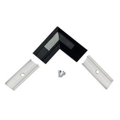 LED profil kútový 90°, čierny hliník