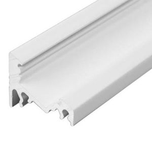 LED profil rohový bez krytky, biely hliník 1m