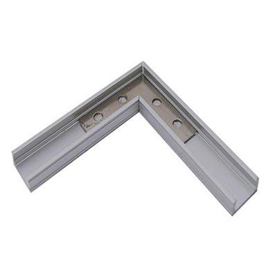 LED profil s krytkou, kútový 90°, anodizovaný hliník