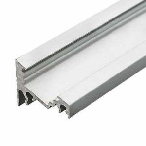 LED profil rohový bez krytky, anodizovaný hliník
