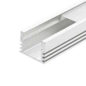 LED profil vysoký bez krytky, biely hliník 1m
