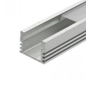 LED profil vysoký bez krytky, anodizovaný hliník 1m