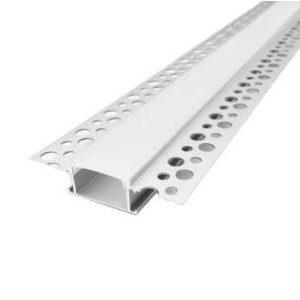 LED zápustný profil do sadrokartónu s mliečnou krytkou 2m
