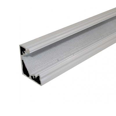 Rohový profil Minilux bez krytky, biely hliník 1m