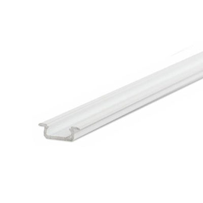 Zápustný profil Minilux bez krytky, biely hliník 1m