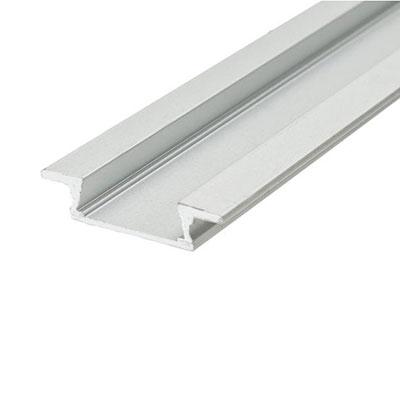 Zápustný profil Minilux bez krytky, anodizovaný hliník 1m