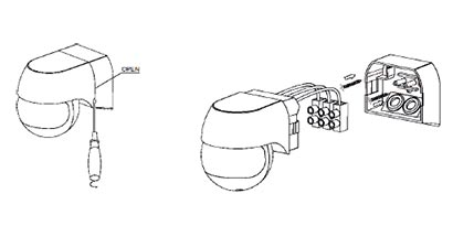 Nástenný PIR senzor pohybu, biely