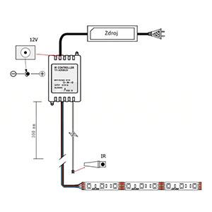 Schéme zapojenia IR diaľkového ovládača
