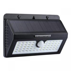 Nástenné Solárne LED osvetlenie, 55LED, so senzorom, studená biela