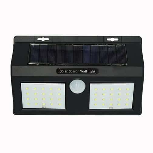 Nástenné solárne LED osvetlenie, IP65, 40 LED, so senzorom, studená biela