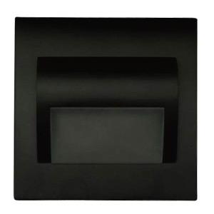 Schodové svietidlo štvorcové BERYL, čierne