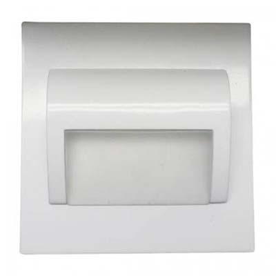 Schodové svietidlo štvorcové BERYL, teplá biela, biele