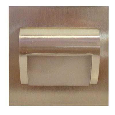 Schodové svietidlo štvorcové BERYL, studená biela, nikel