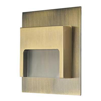 Schodové svietidlo štvorcové ONTARIO - mosadz
