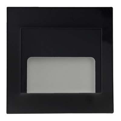 Schodové svietidlo štvorcové ONTARIO, teplá biela, čierne