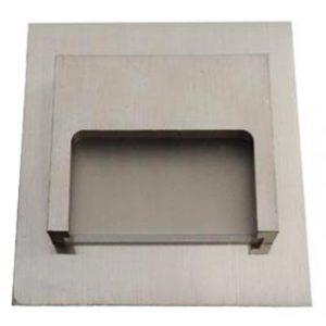 Schodové svietidlo štvorcové ONTARIO, studená biela, strieborné