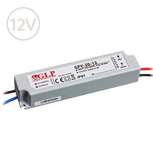 Vodeodolný napájací zdroj pre LED pásy 12V / 20W / 2A