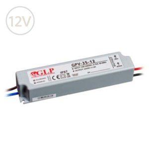 Vodeodolný napájací zdroj pre LED pásy 12V / 35W / 3A