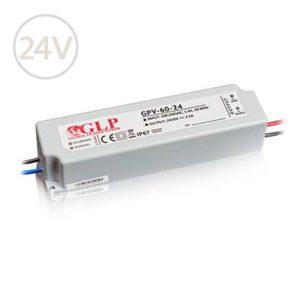 Vodeodolný napájací zdroj pre LED pásy 24V / 60W / 2.5A