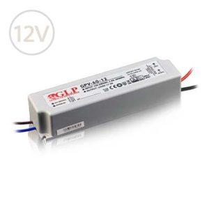 Vodeodolný napájací zdroj pre LED pásy 12V / 60W / 5A