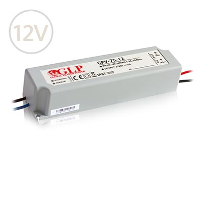 Vodeodolný napájací zdroj pre LED pásy 12V / 75W / IP67