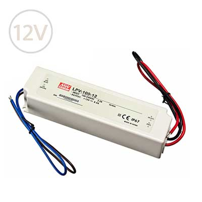 Vodeodolný napájací zdroj pre LED pásy 12V / 100W / IP67